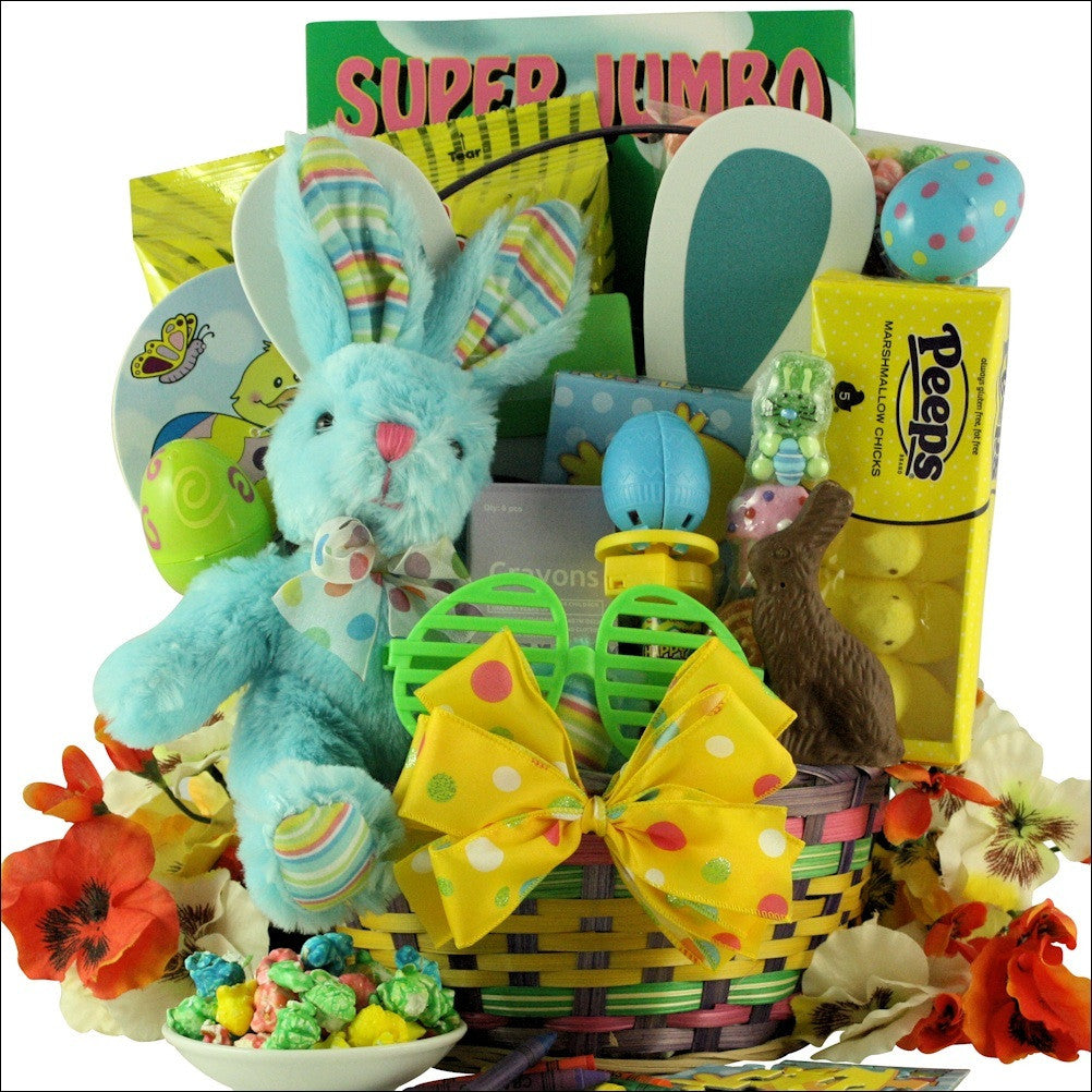 Hoppin' Easter Fun Easter Basket For Boys Ages 3-5 Years Old