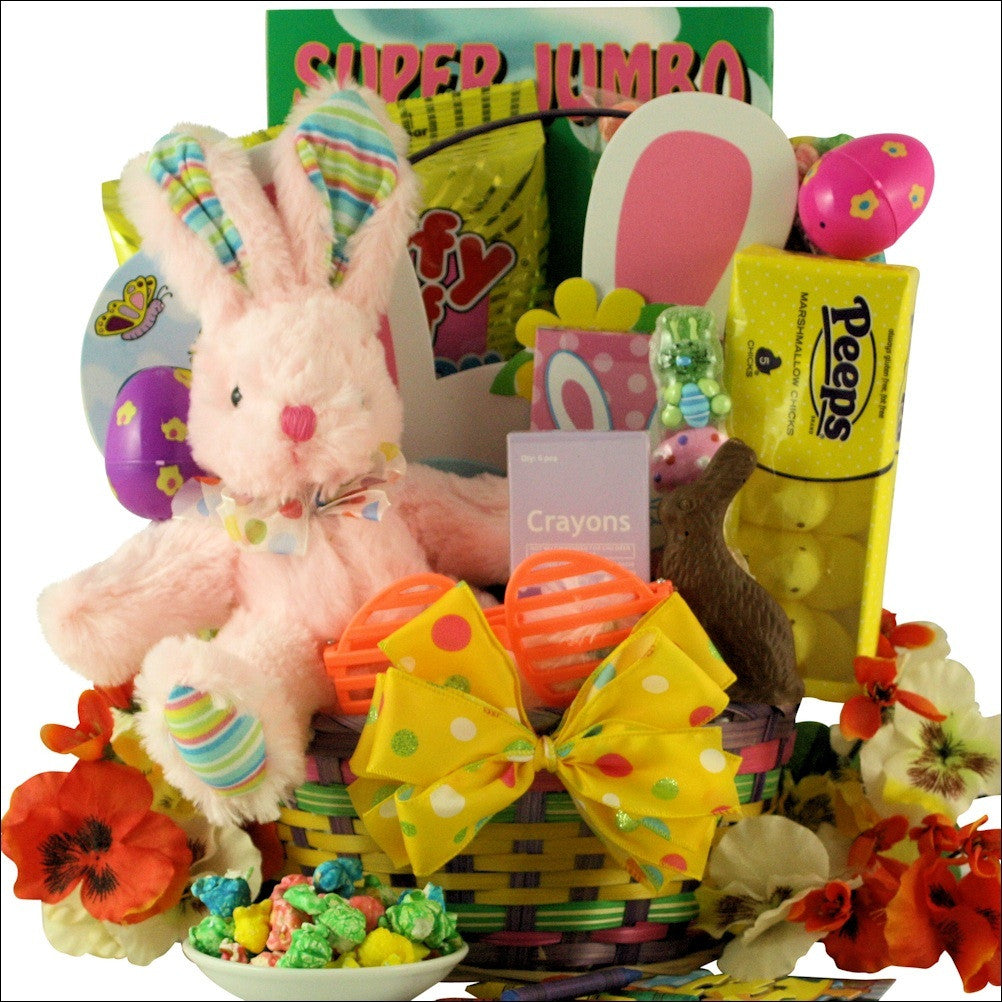 Easter fun easter basket for girls ages 3 5 years old hoppin easter fun easter basket for girls ages 3 5 years old negle Choice Image