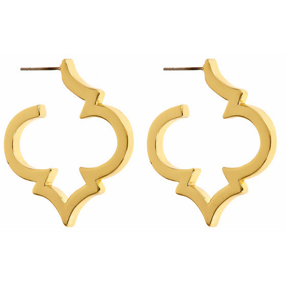 Signature Spade Gold Earrings - Premier Home & Gifts
