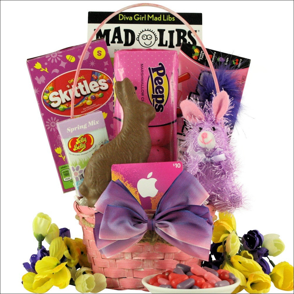 Easter diva easter gift basket for tween girl ages 10 13 years old negle Image collections