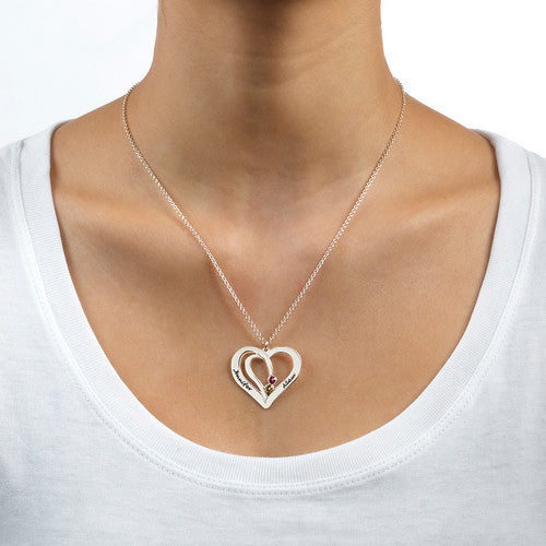 Connected Hearts Sterling Silver Necklace