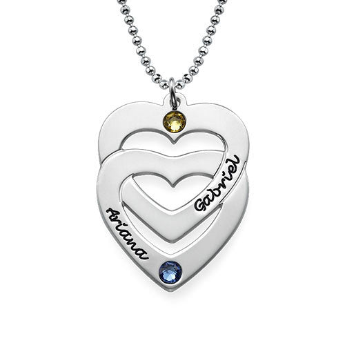 Intertwined Hearts Sterling Silver Necklace