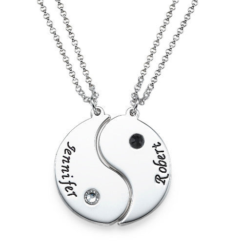 Yin Yang Necklaces with Engraving