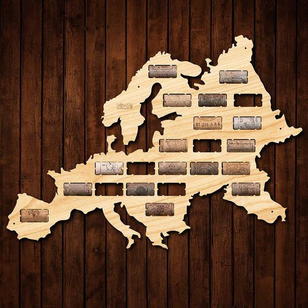 Europe Wine Cork Sign - Premier Home & Gifts