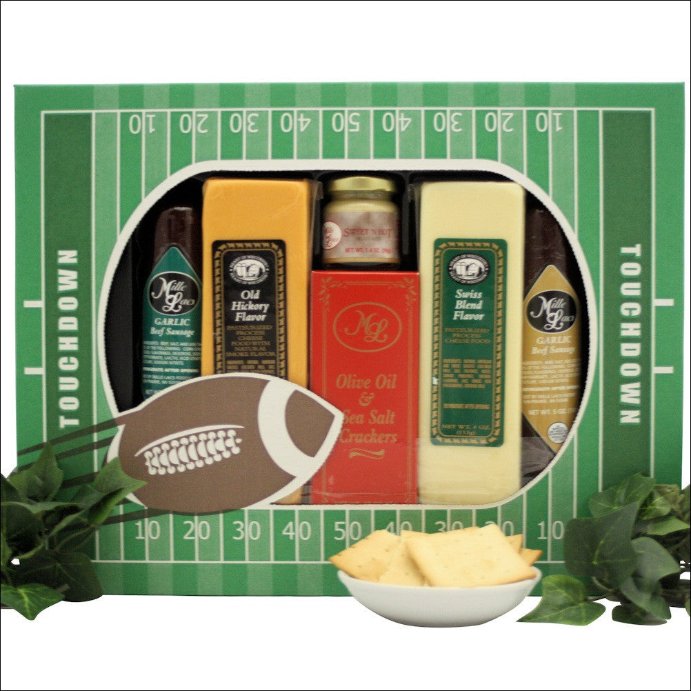 Stadium Treats Cheese and Snacks Gift Set - Premier Home & Gifts