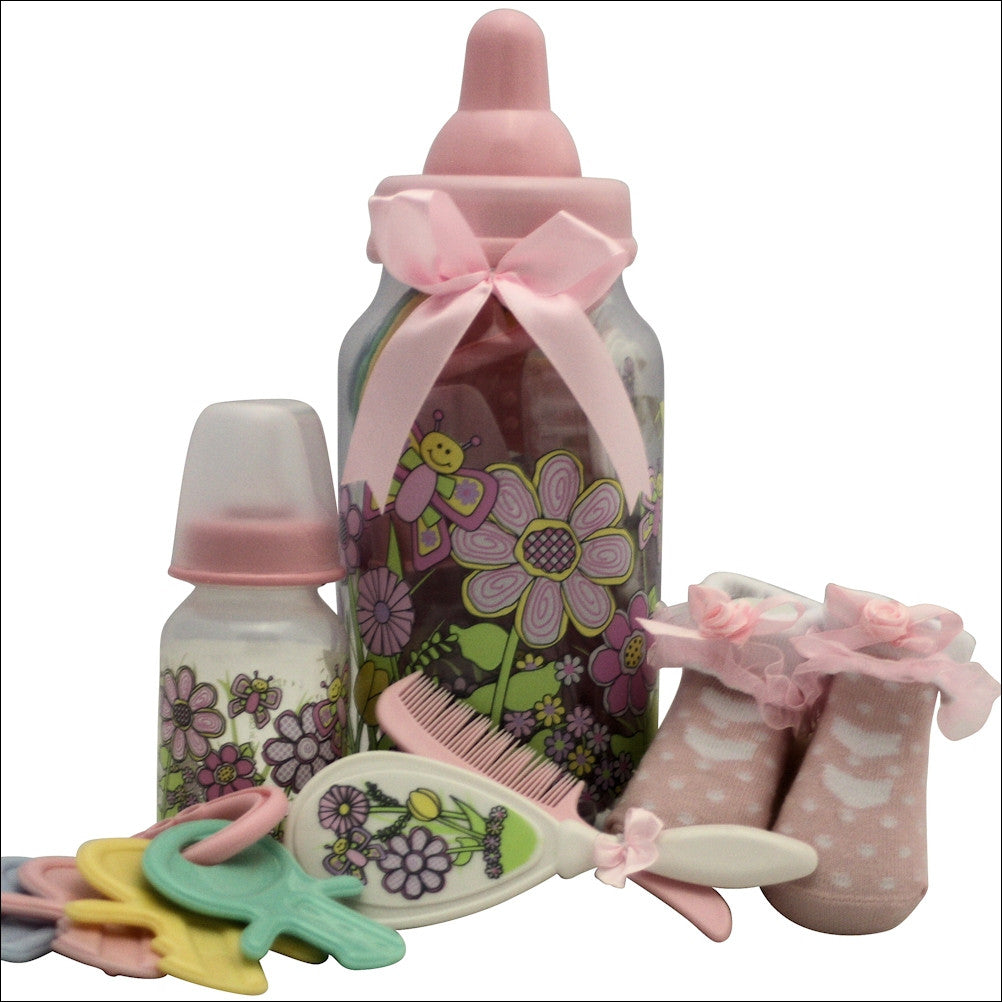 Best Wishes Baby Girl Lux Baby Gift Basket