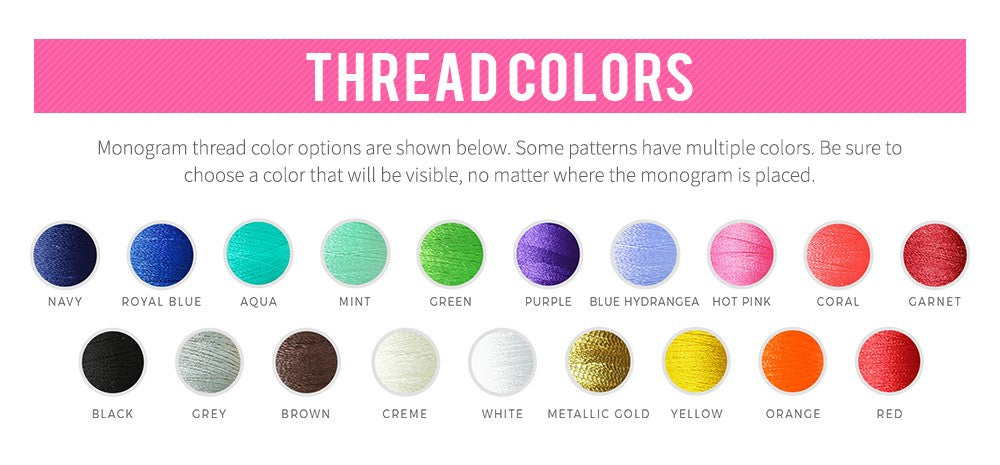 Thread Colors for Personalization