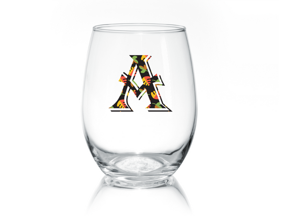 Fall Monogram Stemless Glass