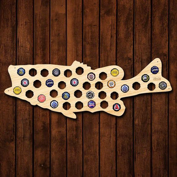 Large Mouth Bass Beer Cap Sign - Premier Home & Gifts