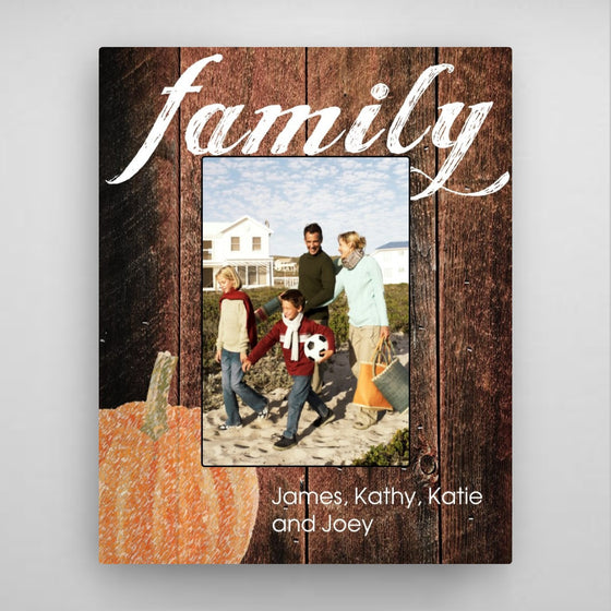 Family Fall Picture Frame-Pumpkin
