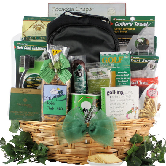 Deluxe Golfer Gourmet Golf Gift Basket - Premier Home & Gifts