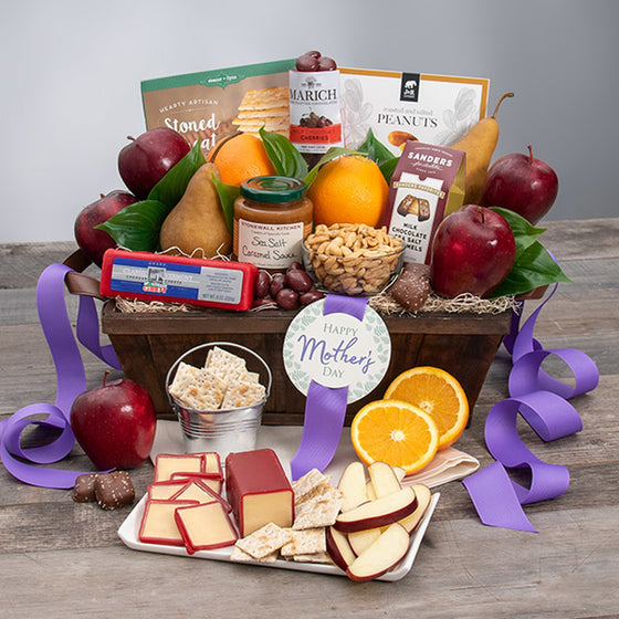 Mother's Day Fruit and Snack Gift Basket