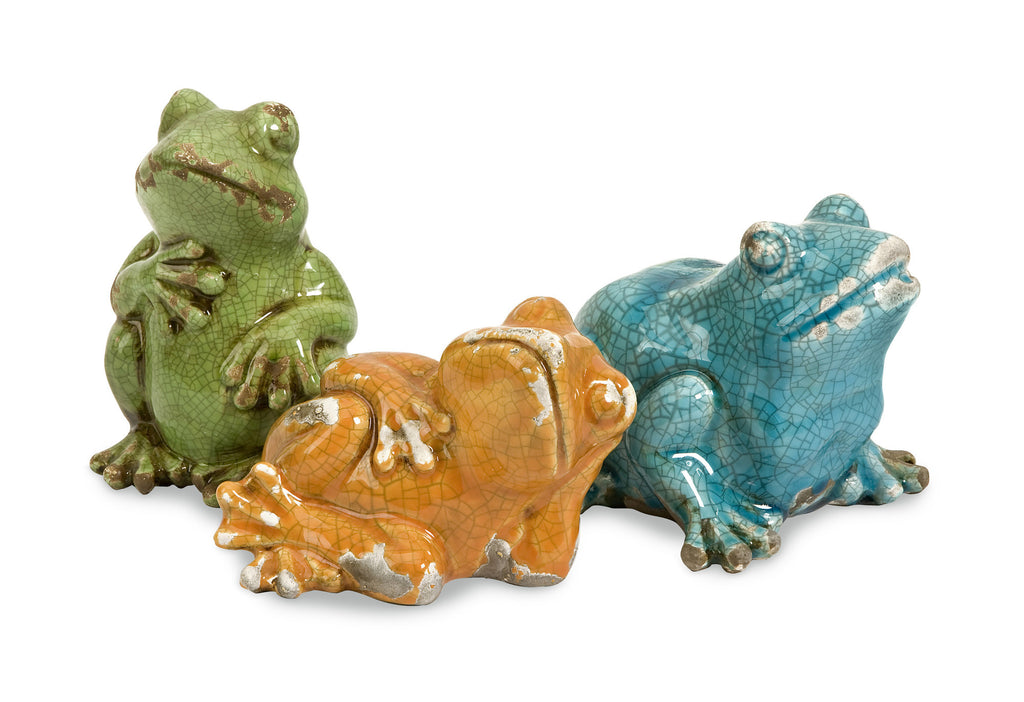 Just Relaxing Garden Frogs ~ Set of 3