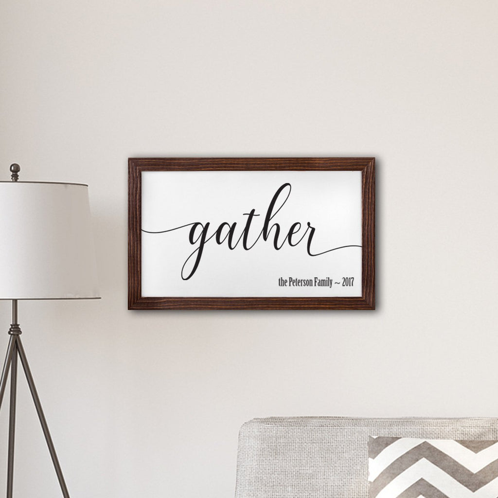 Gather Canvas Sign - Personalized Gifts - Wedding Gifts