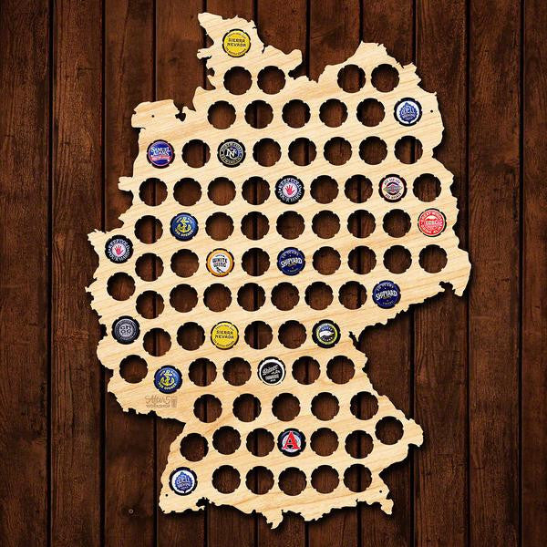 Germany Beer Cap Map Sign - Premier Home & Gifts