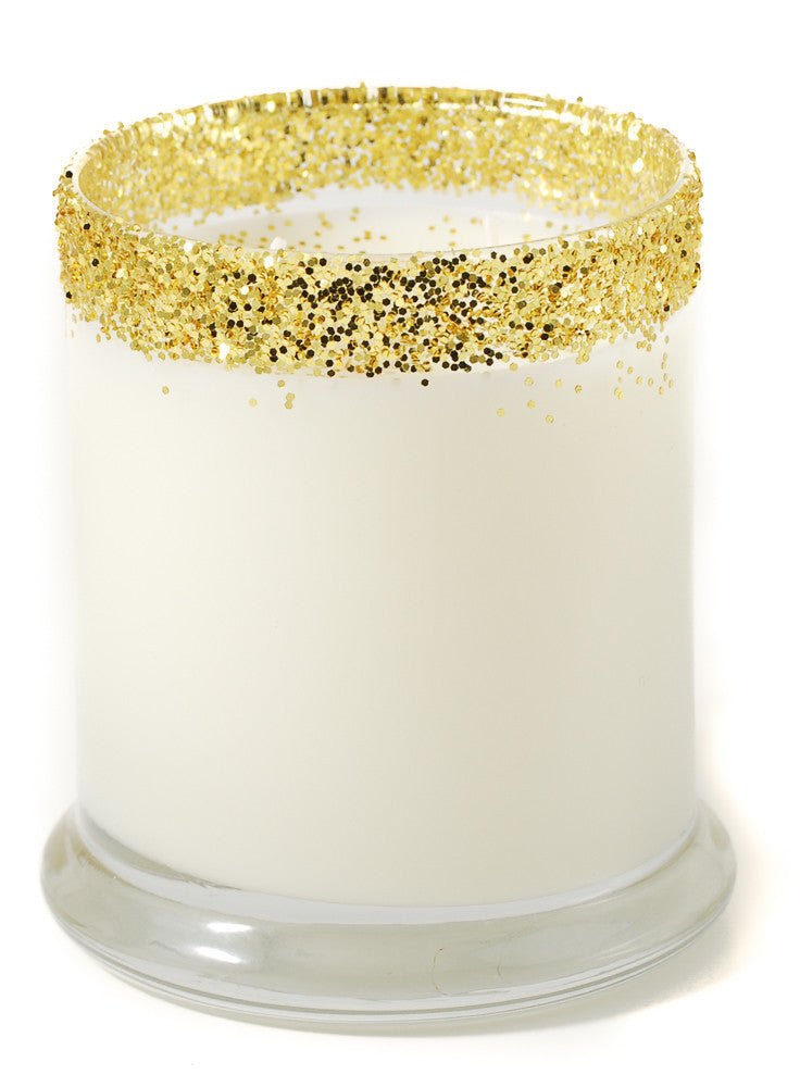 Gold Glitter Candle