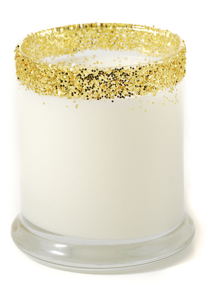 anchor gold stripes personalized candle