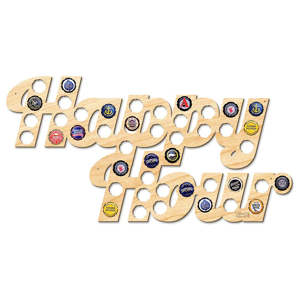 Happy Hour Bottle Cap Sign - Premier Home & Gifts