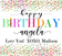 Happy Birthday Confetti Personalized Candle