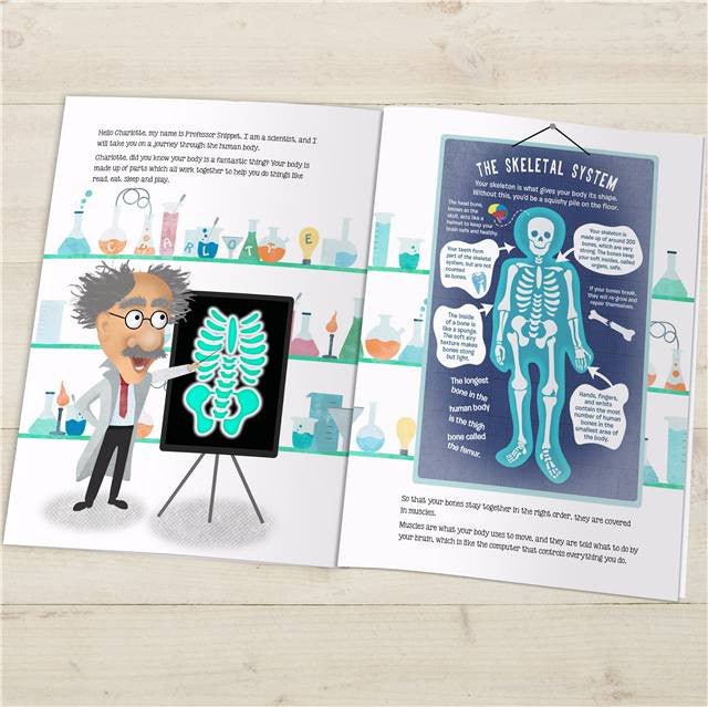 How The Human Body Works Book - Personalized