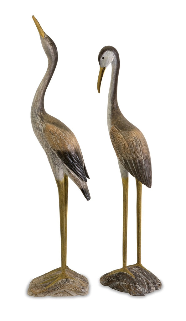 Reeds Wood Cranes ~ Set of 3