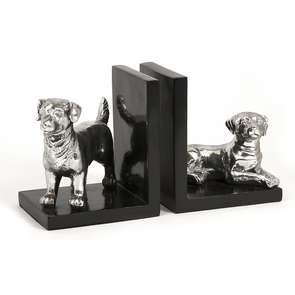 Max Metallic Dog Bookends
