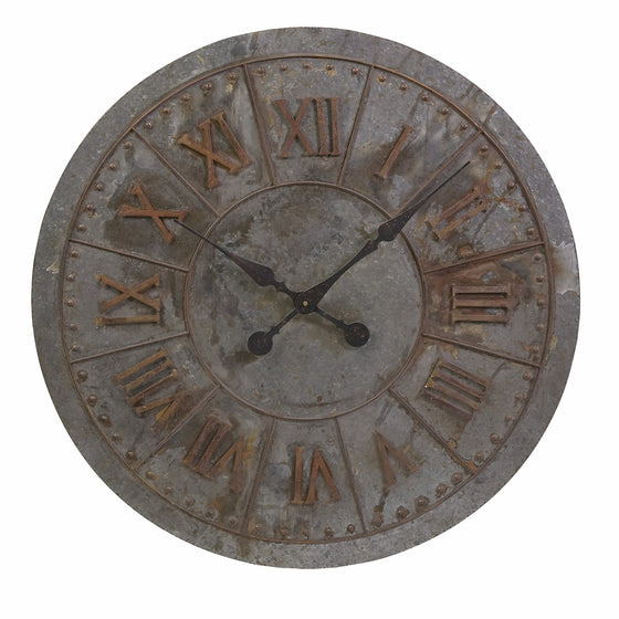 Gavin Galvanized Wall Clock
