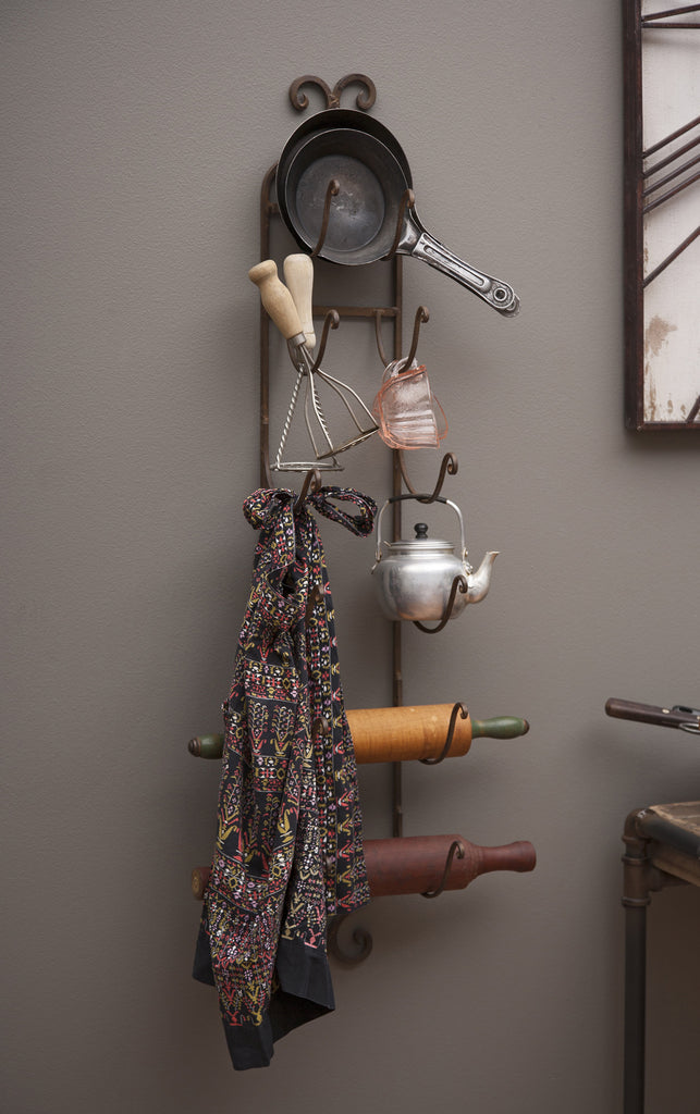 Rustic Iron Wall Rack