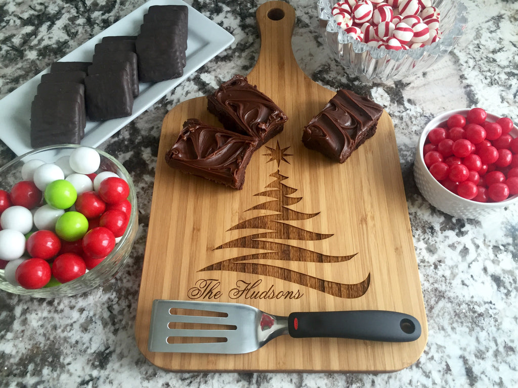 Christmas Serving Wood Boards with Handle