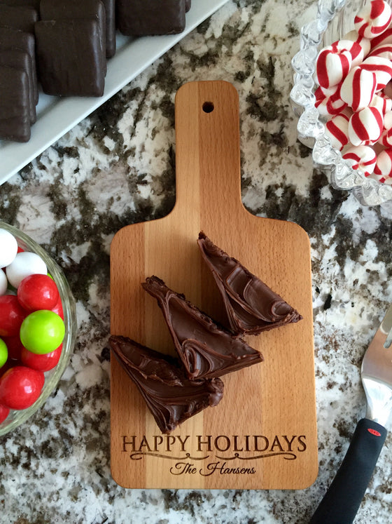 Christmas Serving Wood Boards with Handle - Small