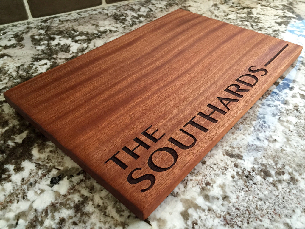 Southard Mahogany Wood Board - Personalized