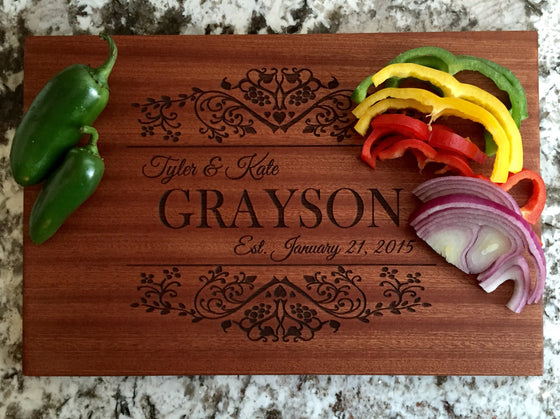 Grayson Mahogany Wood Board - Personalized