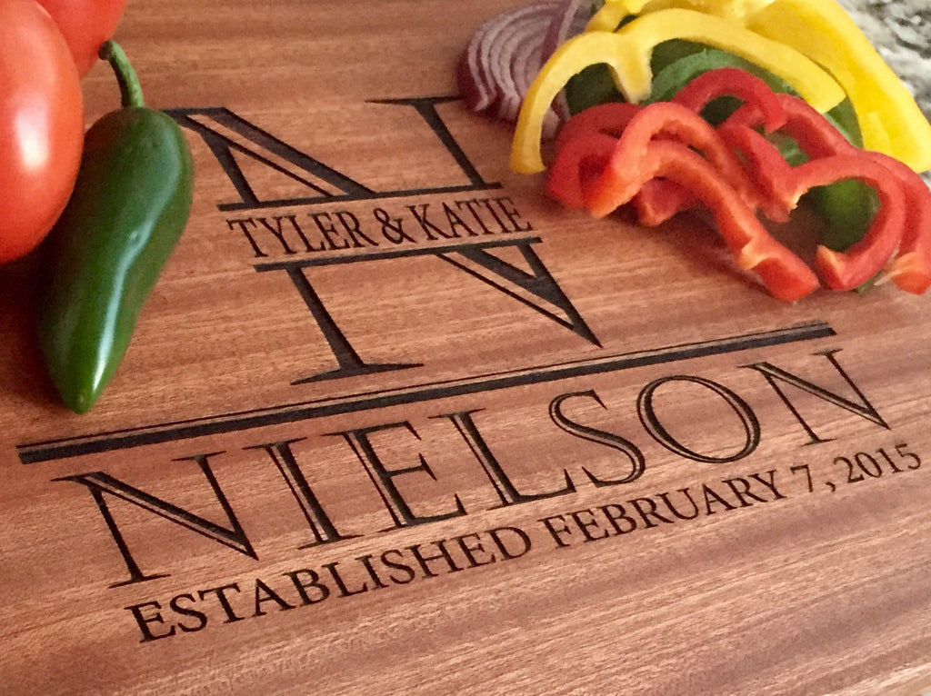 Nielson Mahogany Wood Board - Personalized