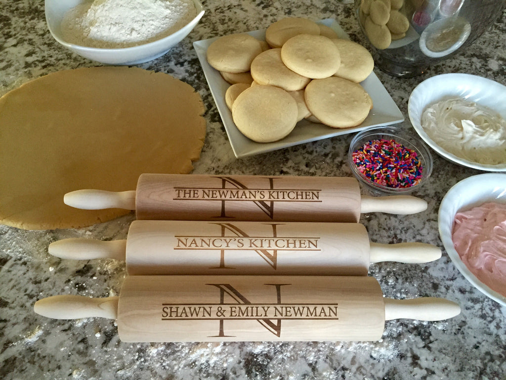 Family Initial Rolling Pin
