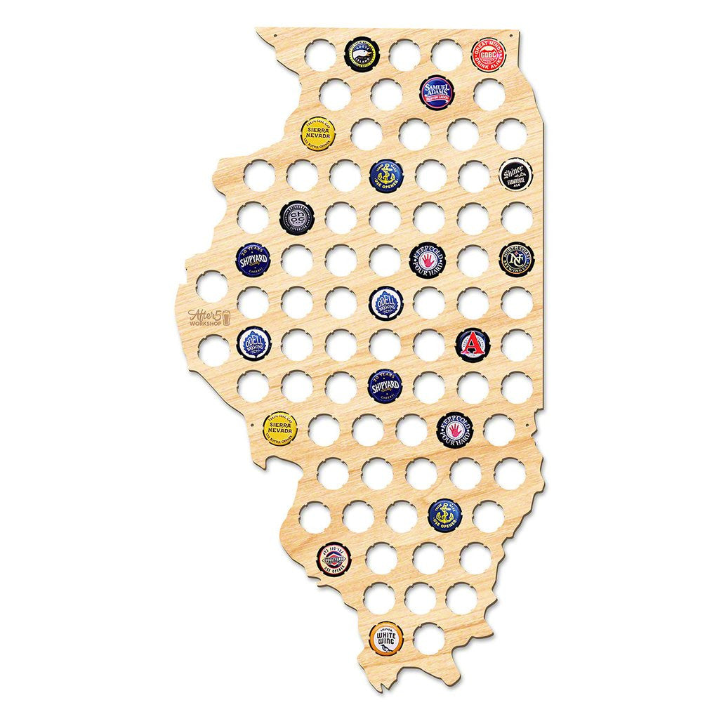 Illinois Beer Cap Sign - Premier Home & Gifts