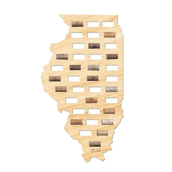 Illinois Wine Cork Sign - Premier Home & Gifts