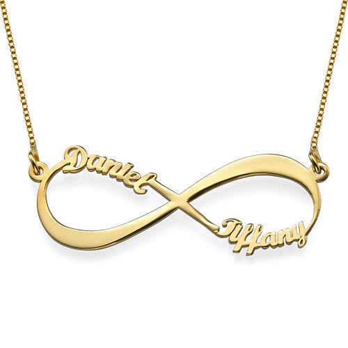 Infinity Name Necklace - 18K Gold Plated