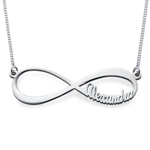 Infinity Name Necklace - Sterling Silver
