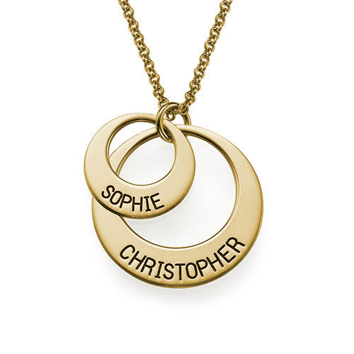 Just For You - Two Disc 18K Gold Plated Necklace