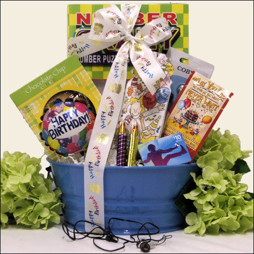 iTunes Boy Tween Birthday Gift Basket
