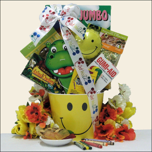 Get Well Smiles Kid's Get Well Gift Basket - Ages 3 to 5
