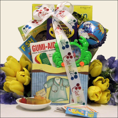 For Life's Boo Boos: Kid's Get Well Gift Basket Ages 6 to 8