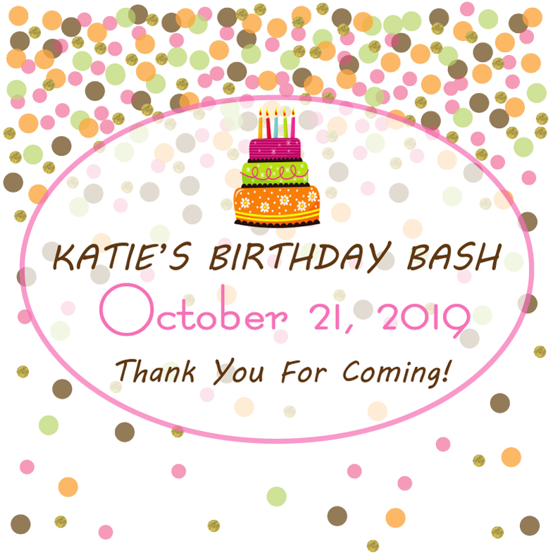 Bop Confetti Birthday Bash Personalized Candle - Premier Home & Gifts
