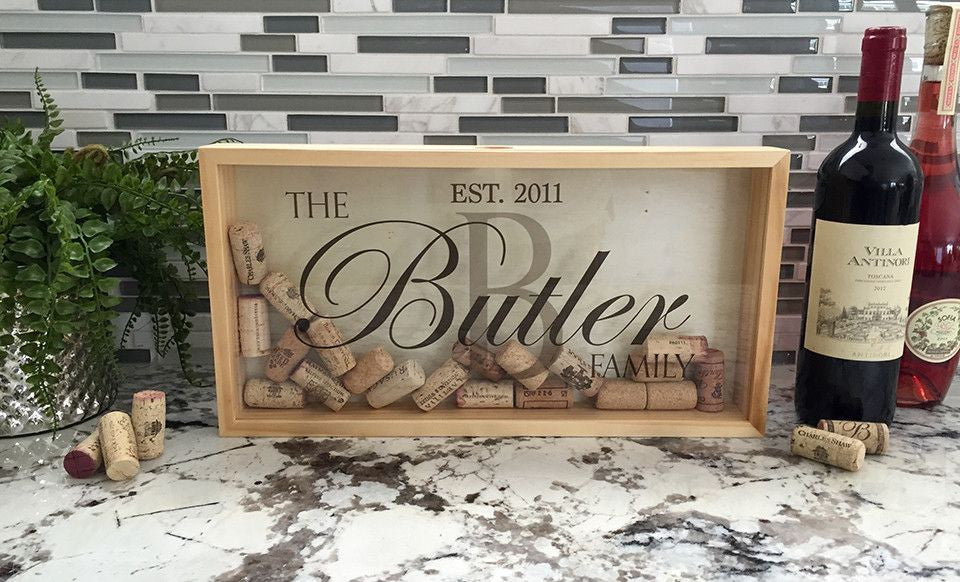 Wine Cork Shadow Box - Personalized | Premier Home & Gifts