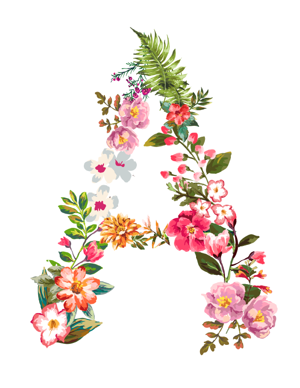 Floral letter personalized candles thecheapjerseys Gallery