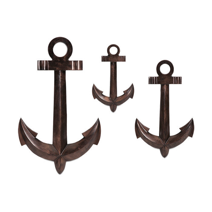 Anchor's Away Wall Decor - Set of 3