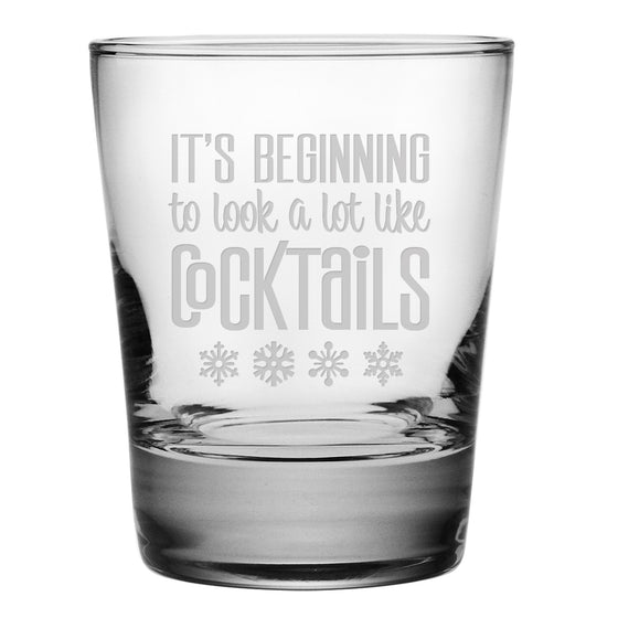 Look a Lot Like Cocktails Double Old Fashioned Glasses - Set of 4