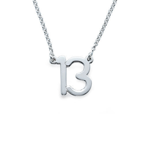 Lucky Number Sterling Silver Necklace