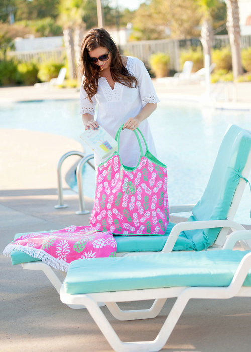 Pineapple Posh Beach Bag - Premier Home & Gifts