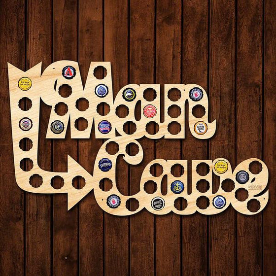 Man Cave Bottle Cap Sign - Premier Home & Gifts